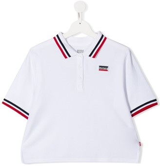 Levi's TEEN striped-trim polo shirt