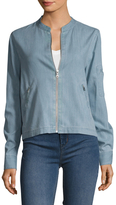 BCBGMAXAZRIA Denim Zip Front Jacket