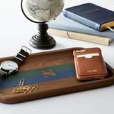 Walnut Desk Tray, Stripe
