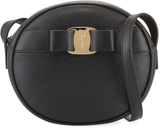 Salvatore Ferragamo Vara Bow Round Zip Crossbody Bag