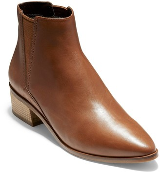 Cole Haan Marinne Leather Almond Toe Ankle Boot