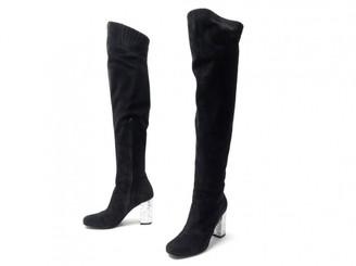 Saint Laurent \N Black Velvet Boots