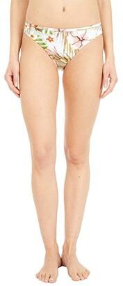 Roxy Printed Beach Classics Full Coverage Bikini Bottoms (Bright White Herbier) Women's Swimwear
