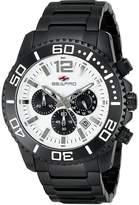 Seapro Men's 46mm Black Steel Bracelet & Case Quartz Chronograph Watch Sp2310