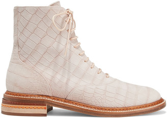 Gabriela Hearst Robin Croc-effect Leather Ankle Boots