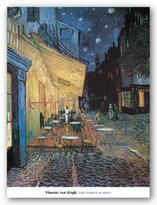 "McGaw Graphics Cafe Terrace at Night by Vincent van Gogh 30""x23.5"" Art Print Poster"