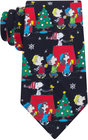 peanuts mens snoopy on the roof tie