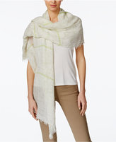 Steve Madden Coastal Crosshatch Day Wrap and Scarf in One