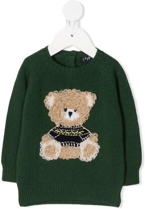 Il Gufo Bear-Applique Knitted Sweatshirt