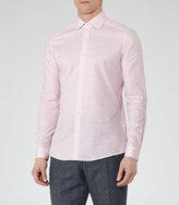 Reiss Reiss Shane - Cotton And Linen Shirt In Pink, Mens