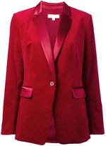 Michael Kors velvet tuxedo blazer - women - Cotton/Polyester/Spandex/Elastane - 4