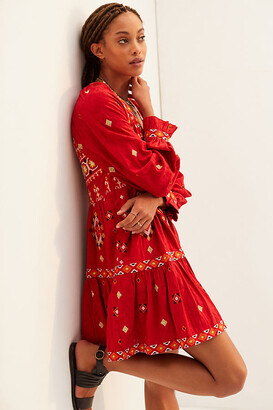 Anthropologie Embroidered Tunic Dress By in Assorted Size 1 X