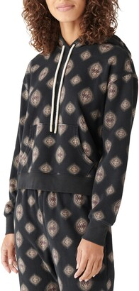 Lucky Brand Print Terry Hoodie