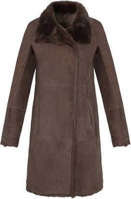 Gerard Darel Reversible Sheepskin Ariane Coat