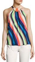 Trina Turk Ari Sleeveless Striped Stretch Jersey Top, Multicolor