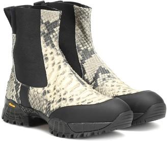 Alyx Vibram leather Chelsea boots