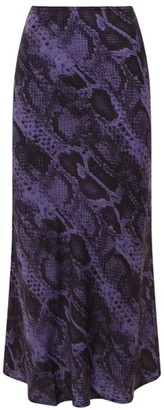 Andamane Bella Snakeskin Print Midi Skirt