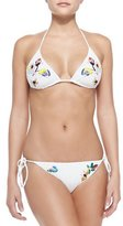 Missoni Mare Embroidered Flowers String Bikini
