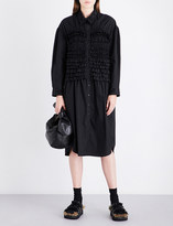 Simone Rocha Bead-embellished smocked cotton dress