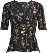 Altuzarra Erinna round-neck floral-print top