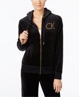 Calvin Klein Logo Velour Active Hoodie