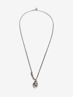 Alexander McQueen Skull and Snake Necklace