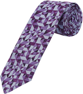 Oxford Silk Tie Deco Ppl Reg Purple X