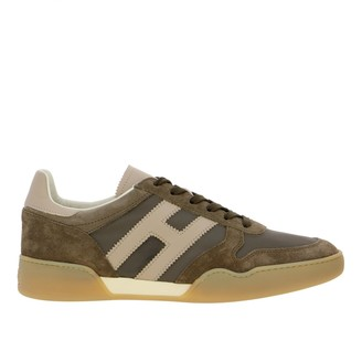 Hogan Sneakers Retro Running Sneakers In Suede And Nylon