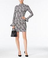 MICHAEL Michael Kors Printed Bell-Sleeve Bodycon Dress