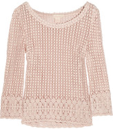 Collette Dinnigan Collette by Seed of Love crochet-knit cotton top