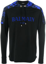 Balmain logo printed hoodie - men - Cotton - S