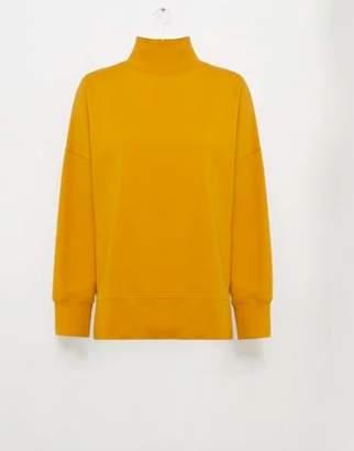 French Connection SUNDAY SWEAT HIGH NECK JUMPER - M . | cotton | mustard - Mustard