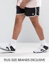 Puma Plus Retro Mesh Shorts In Black Exclusive To Asos
