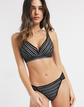 Lingadore Striped Bralette and Briefs Set