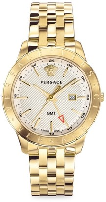 Versace Glaze Gold Ion-Plated Stainless Steel Bracelet Watch