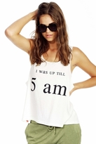 Wildfox Couture Up All Night Boy Tank in Vintage Lace