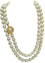 One Kings Lane Vintage Lagerfeld Baroque Glass Pearl Necklace
