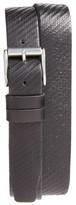 John Varvatos Men's Textured Leather Belt