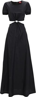 STAUD Calypso Cut-Out Maxi Dress