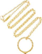 Monica Rich Kosann Poesy Never Fear 18K Gold Ruby Necklace