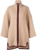 Chloé contrast zip coat