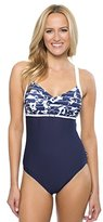Nautica Women's Pacific Floral Removable Soft Cup One-Piece Swimsuit