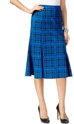 Notations Women's Printed Midi Flare Panel Skirt