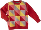 Little Green Radicals Fisherman Sweater (Baby) - Red-9-12 Months
