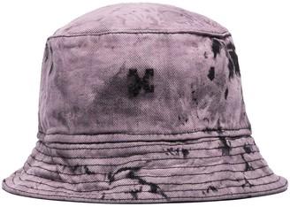 Off-White Tie-Dyed Denim Bucket Hat