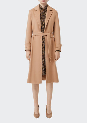Burberry Sherringham Cashmere Wrap Coat