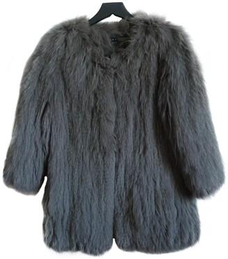 Theory Grey Fur Coat for Women