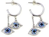 Butler & Wilson Butler and Wilson Big Brother Eye Hoop Earrings