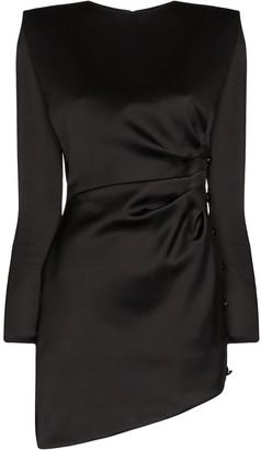 Saint Laurent ruched effect mini dress