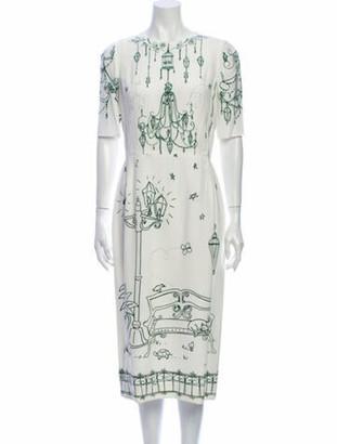 Dolce & Gabbana 2016 Midi Length Dress White